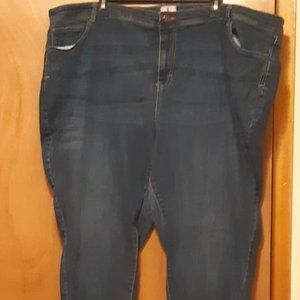 d/C Jeans Med Wash Curvy Straight Leg 28P